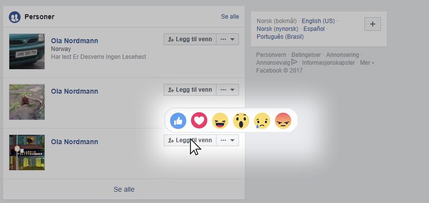skjule venneforespørsel tidslinje facebook